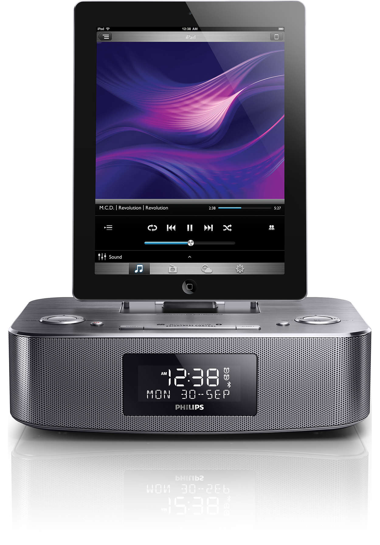 docking station with bluetooth dtb297 10 philips. Black Bedroom Furniture Sets. Home Design Ideas