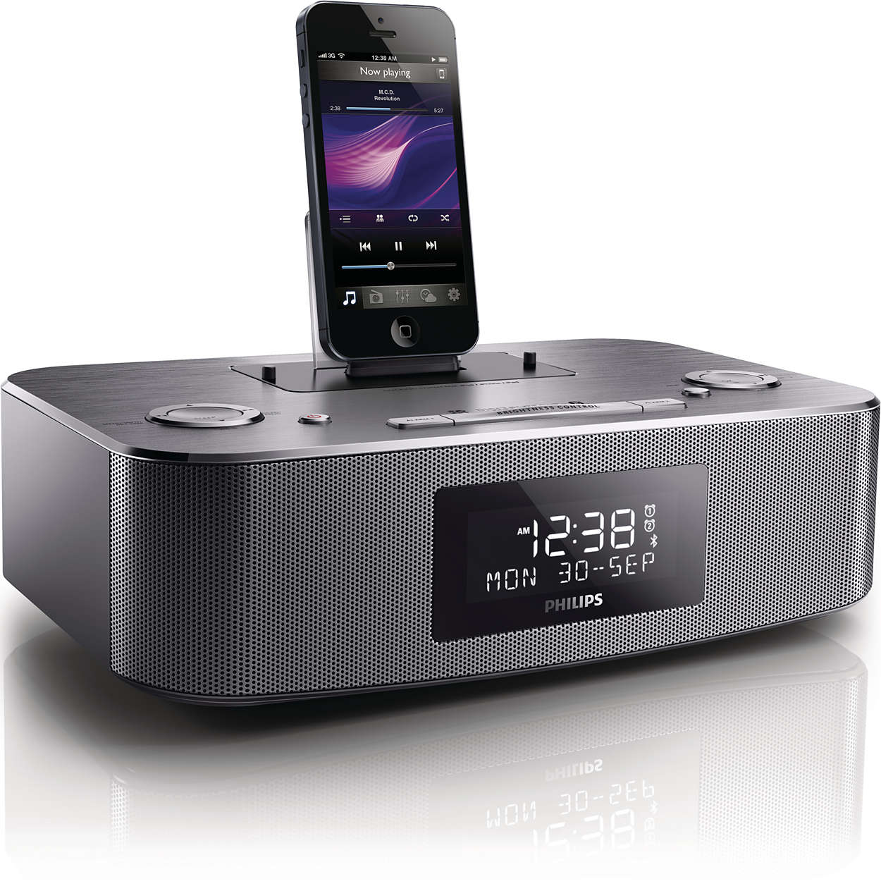 dab radio alarm clock with ipod dock unique alarm clock. Black Bedroom Furniture Sets. Home Design Ideas