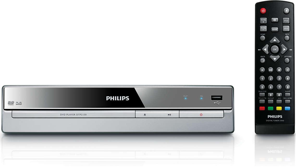 TV digital e reprodução de DVD num só