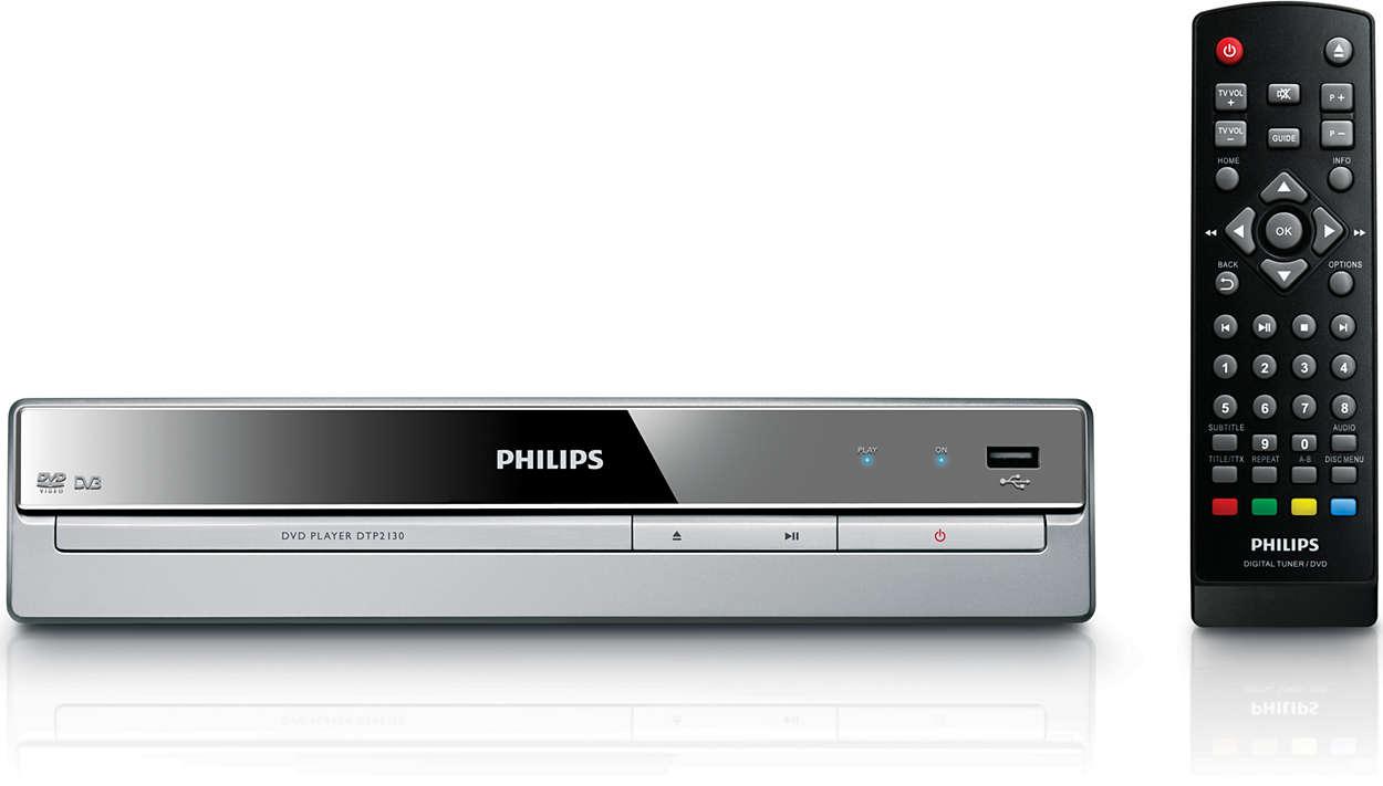 Uppspelning av både digital-TV och DVD