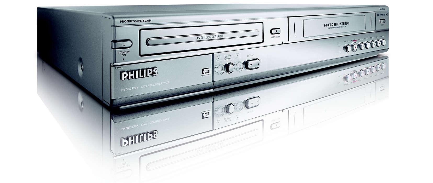 DVD recorder/VCR DVDR3320V/01 | Philips