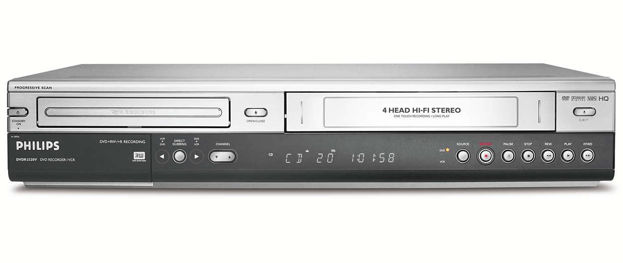 DVD-Recorder/VCR DVDR3320V/02 | Philips