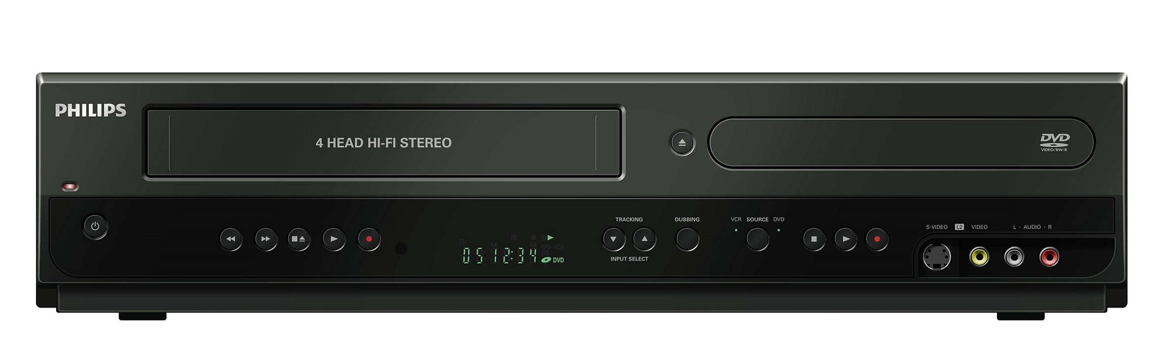 Enregistrez simplement sur DVD et VHS