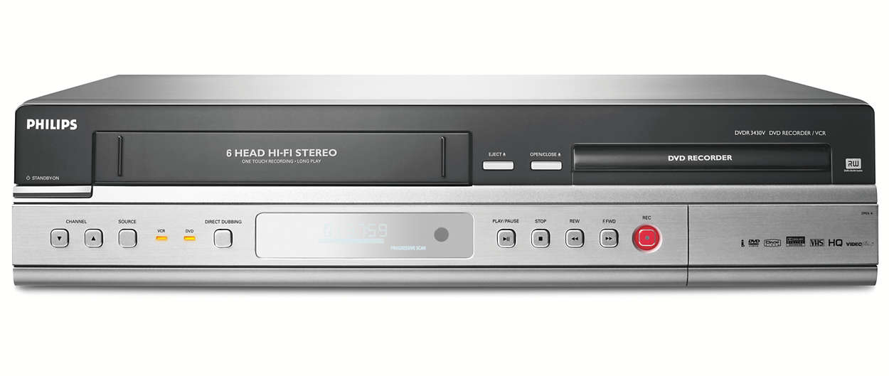dvd recorder vcr dvdr3430v 05 philips. Black Bedroom Furniture Sets. Home Design Ideas