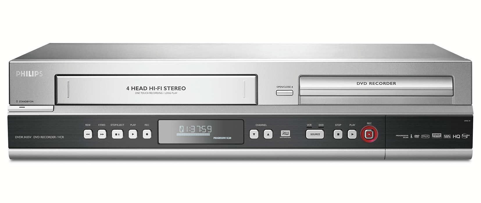 Transférez vos cassettesVHS sur DVD