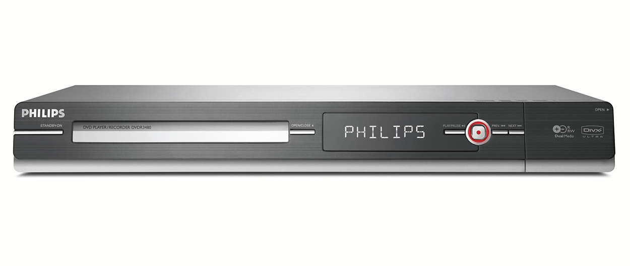 dvd player recorder dvdr3480 05 philips. Black Bedroom Furniture Sets. Home Design Ideas