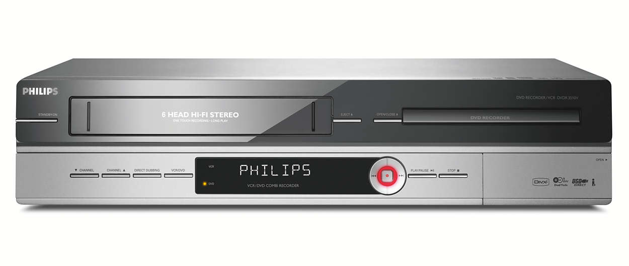 dvd recorder vcr dvdr3510v 31 philips. Black Bedroom Furniture Sets. Home Design Ideas