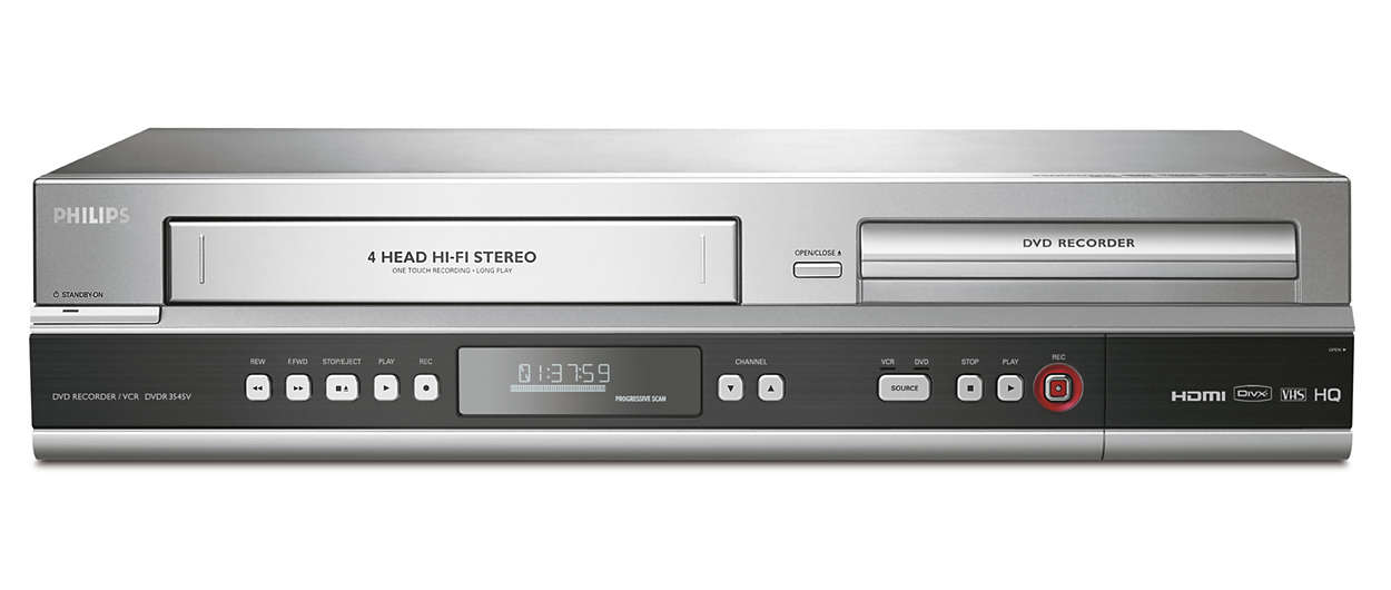 Dvd recordervcr dvdr3545vf7 philips dvd recordervcr publicscrutiny Choice Image