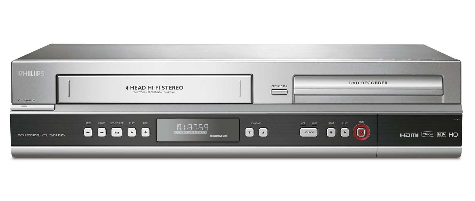 Enregistrez vos émissions sur DVD et VHS