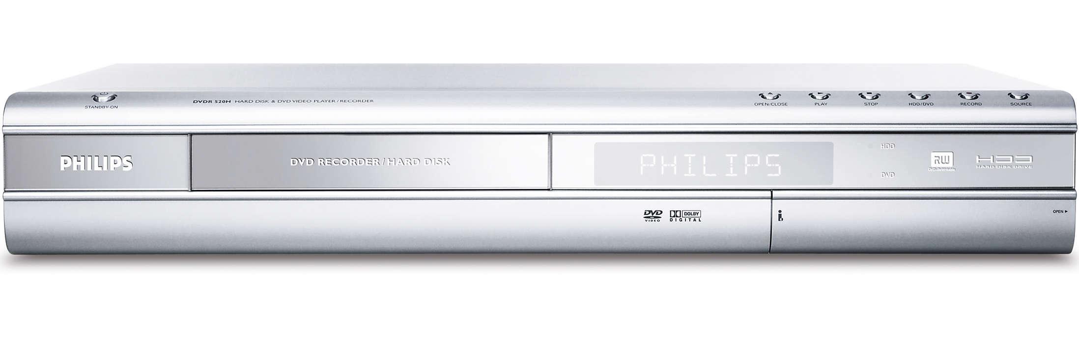 DVD-opptaker/harddisk