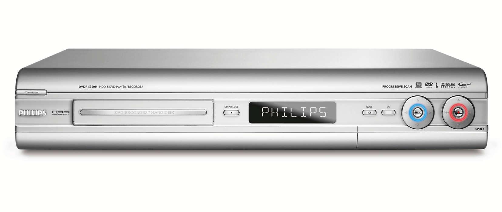 Hard disk/DVD recorder DVDR5350H/05 | Philips
