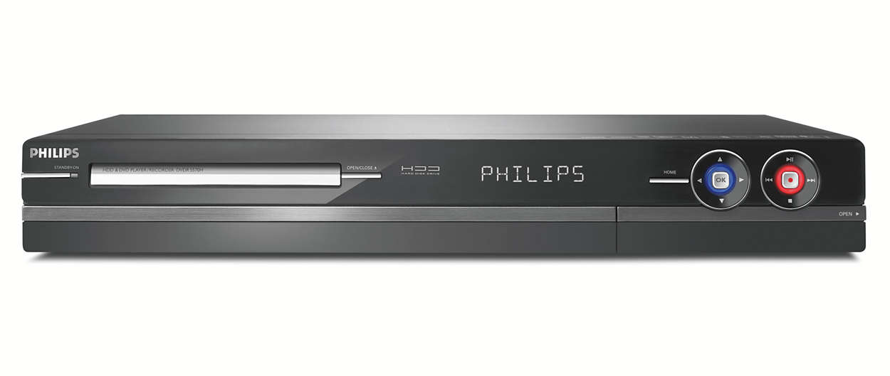 lecteur enregistreur de dvd disque dur dvdr5570h 31 philips. Black Bedroom Furniture Sets. Home Design Ideas