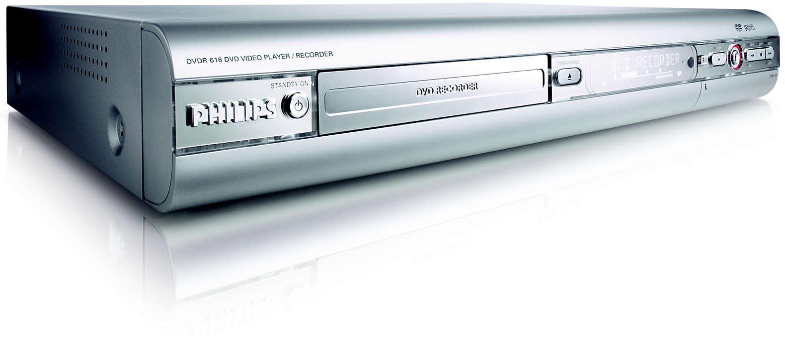 Upplev hur enkelt det är att spela in på DVD!