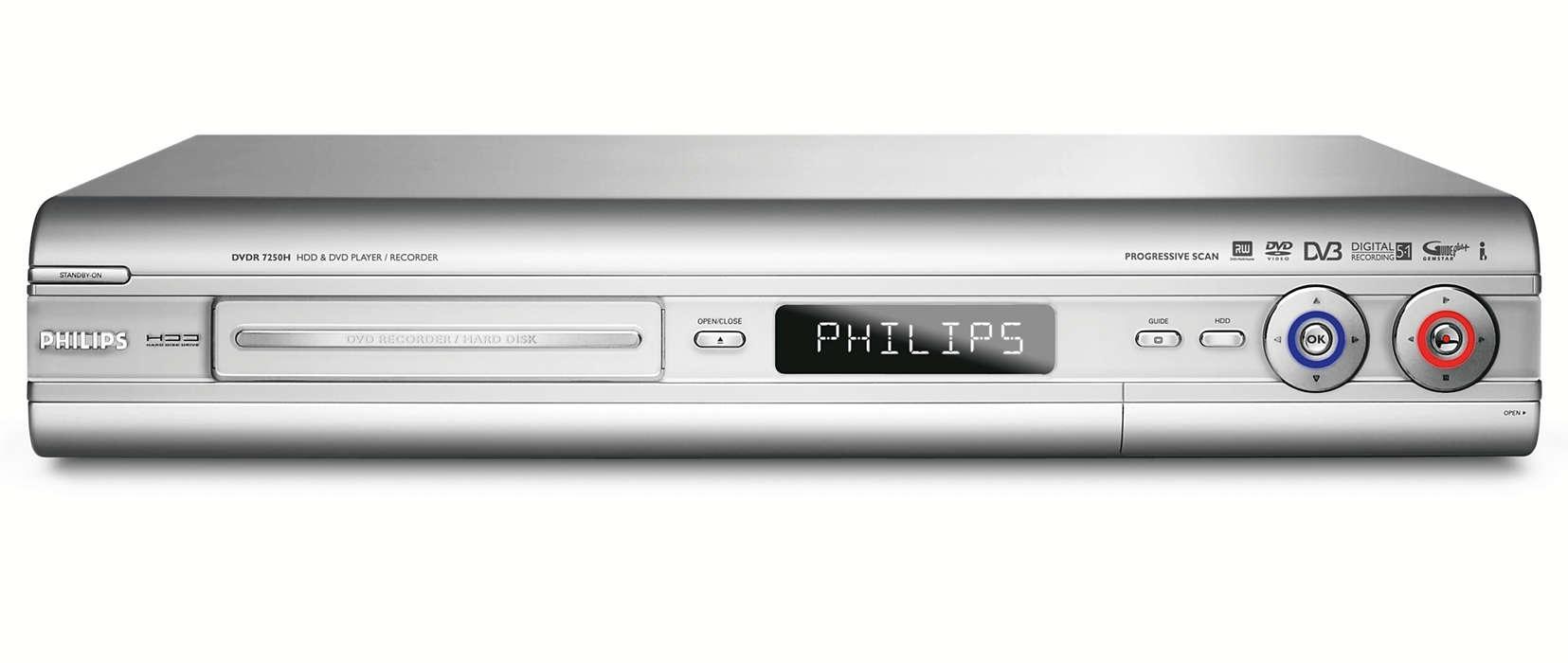 Digital TV för inspelning och lagring