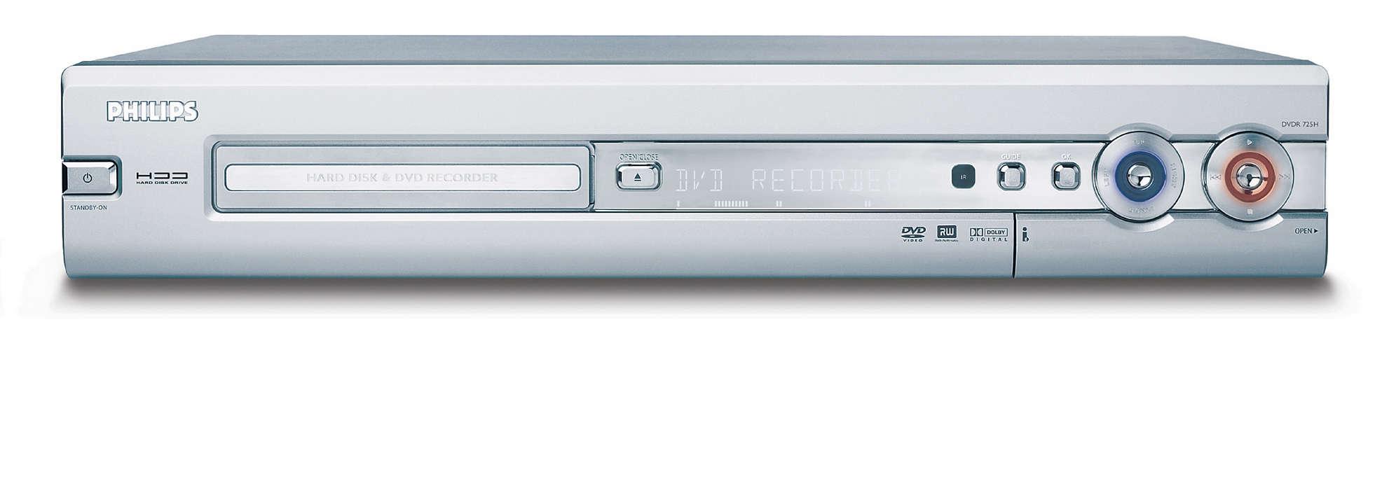 DVD recorder con hard disk