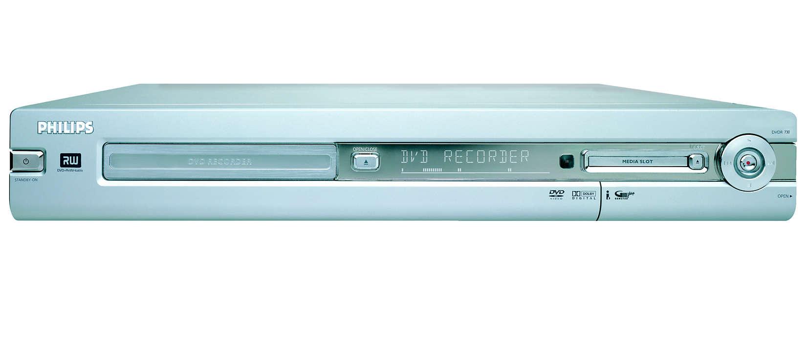 Graba en DVD imágenes digitales y cintas de la videocámara