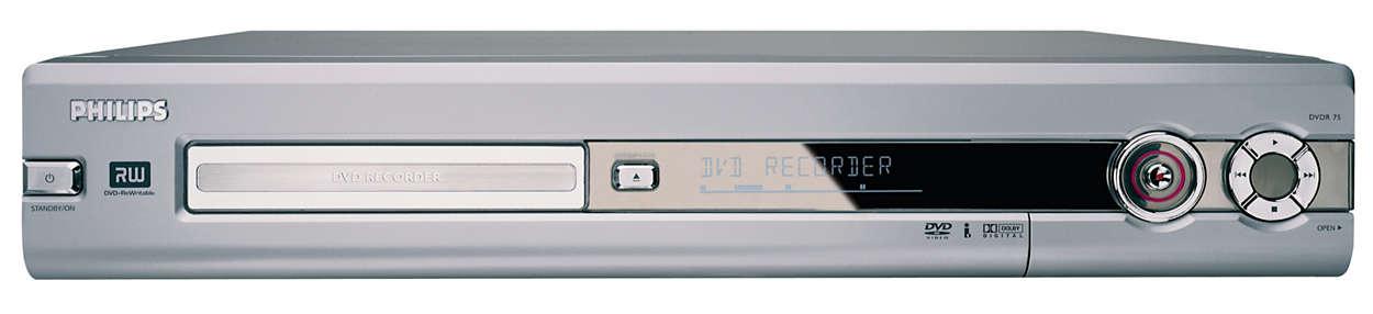 Experimenta la magia de la grabación en DVD