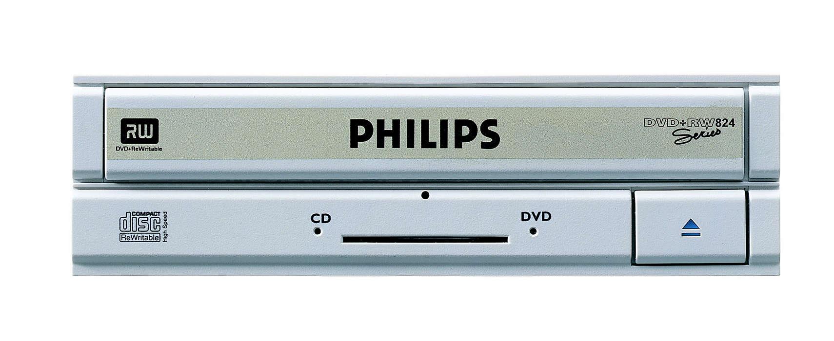 Registra i DVD a una velocità straordinaria