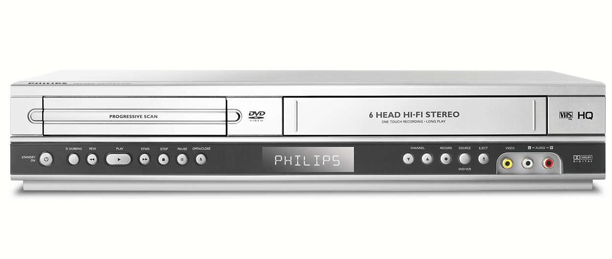 dvd vcr player dvp3055v 05 philips