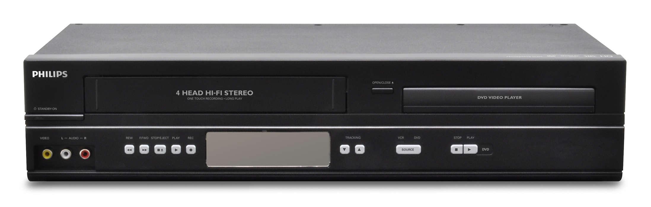 Combiné DVD et VHS