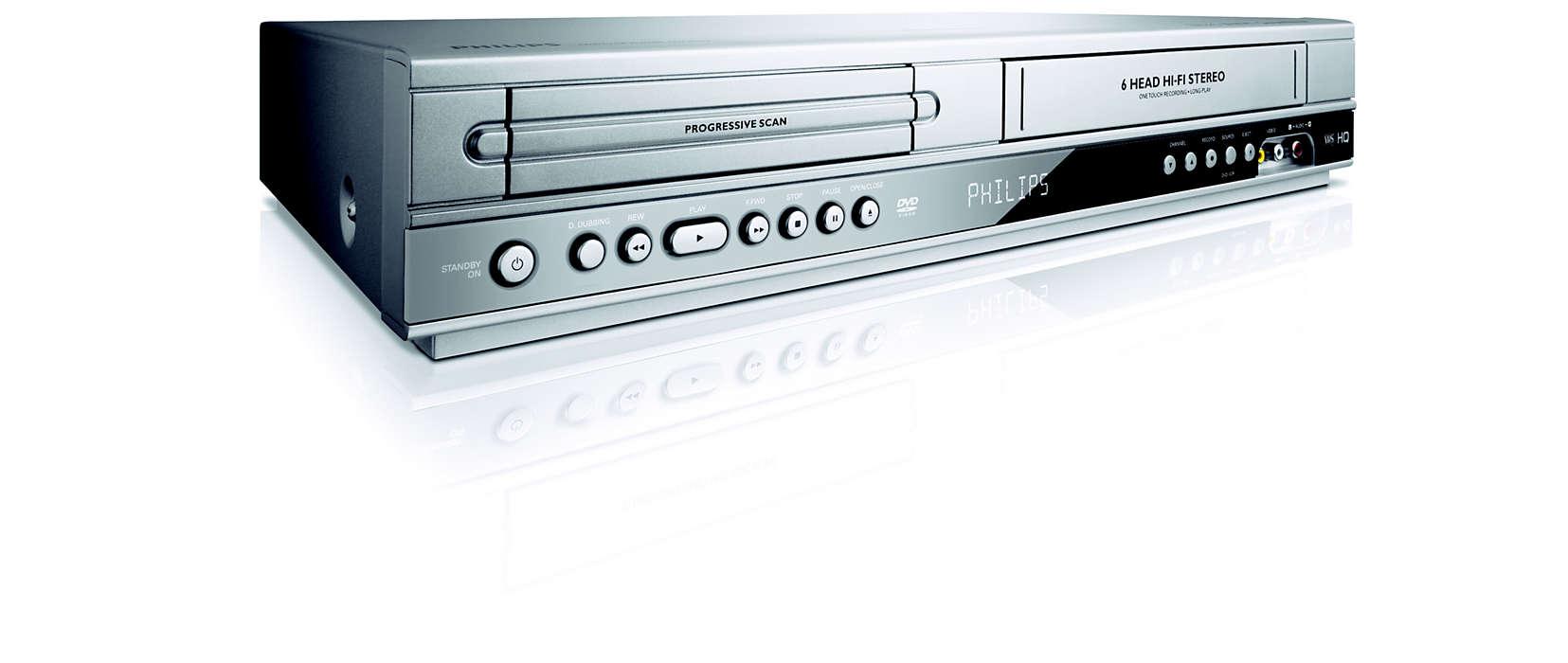 DVD/VCR Player DVP3350V/05 | Philips