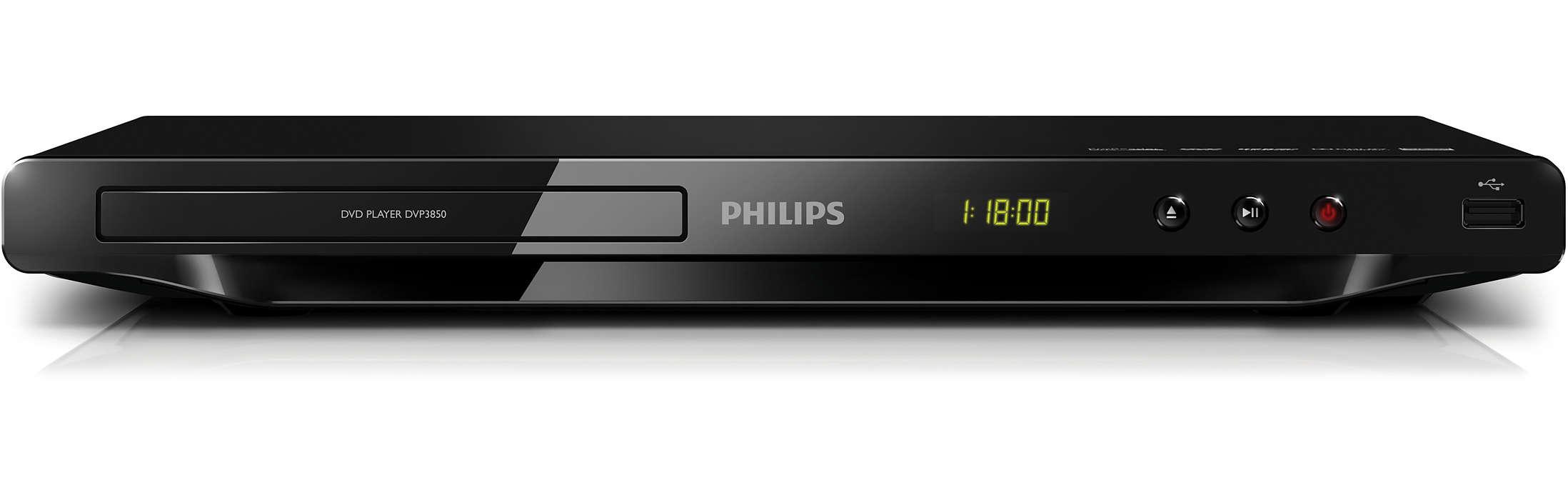 Nauti kaikesta sisällöstä - DVD-levyltä tai USB-liitännän kautta