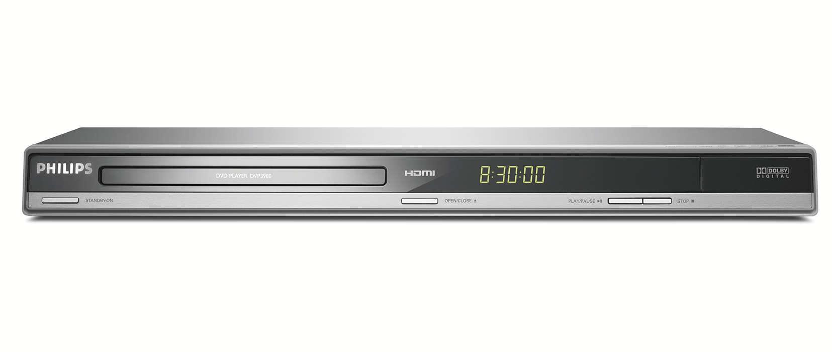 Lecteur DVD avec conversion à la résolution supérieure HDMI1080p