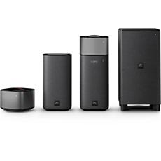 E6/12 - Philips Fidelio  Draadloze Home Cinema Surround Sound-luidsprekers