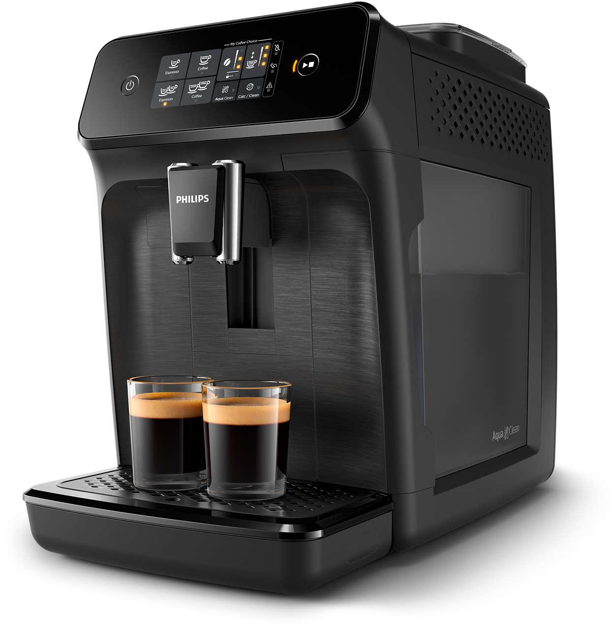 2вкусных вида кофе из свежемолотых зерен— это легко