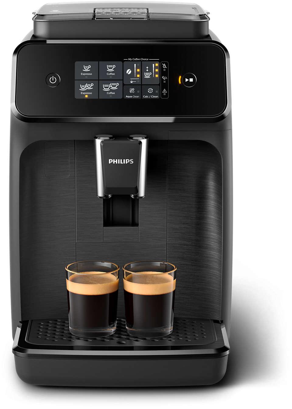 2délicieux cafés préparés avec des grains de café frais