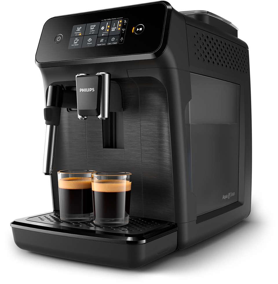 Snadná příprava 2lahodných typů káv zčerstvých kávových zrn