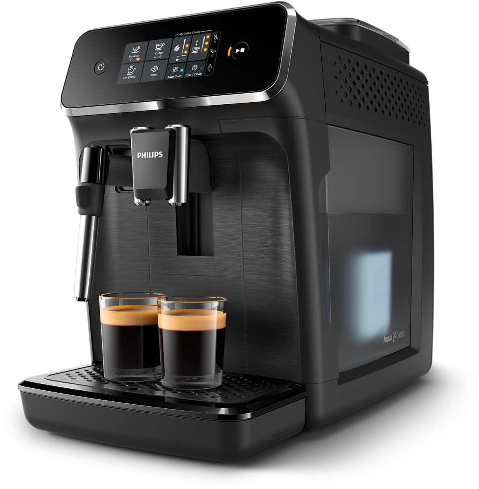 2délicieux cafés provenant de grains frais, en toute simplicité.