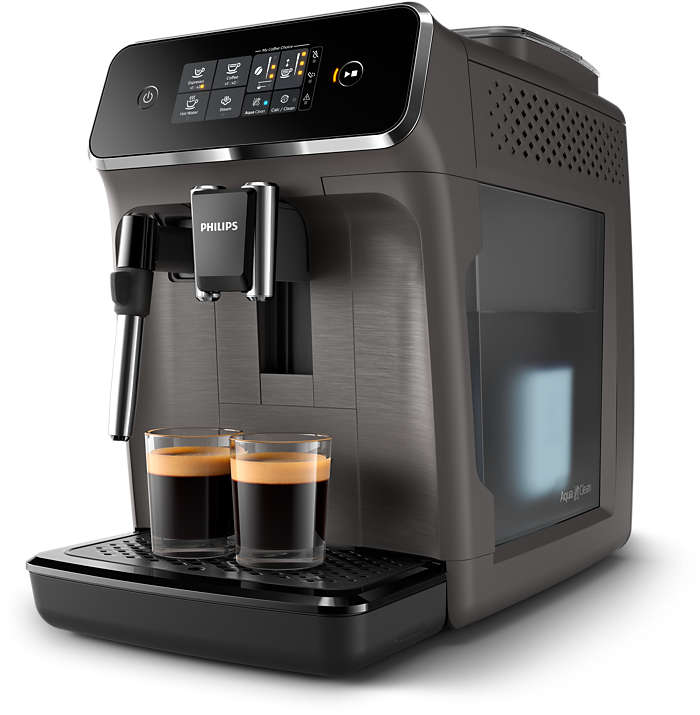 2 deliziose varietà di caffè da chicchi freschi, senza sforzi