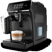 Philips Series 2200 Machines espresso entièrement automatiques EP2230/10 3boissons, LatteGo, Noir mat, écran tactile