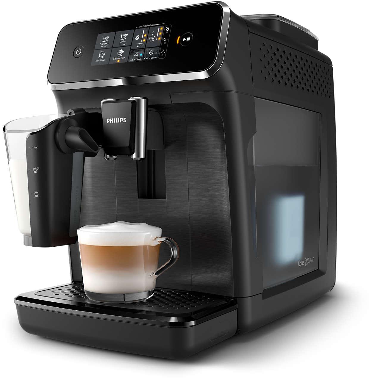 3délicieux cafés provenant de grains frais, en toute simplicité.