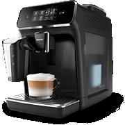 Philips Series 2200 Machines espresso entièrement automatiques EP2231/40 3boissons, LatteGo, Noir laqué, écran tactile
