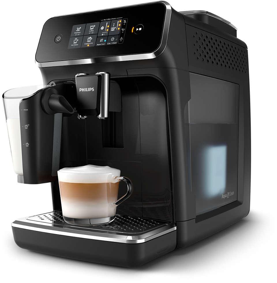 3 gardi dzērieni no svaigām kafijas pupiņām, bez piepūles
