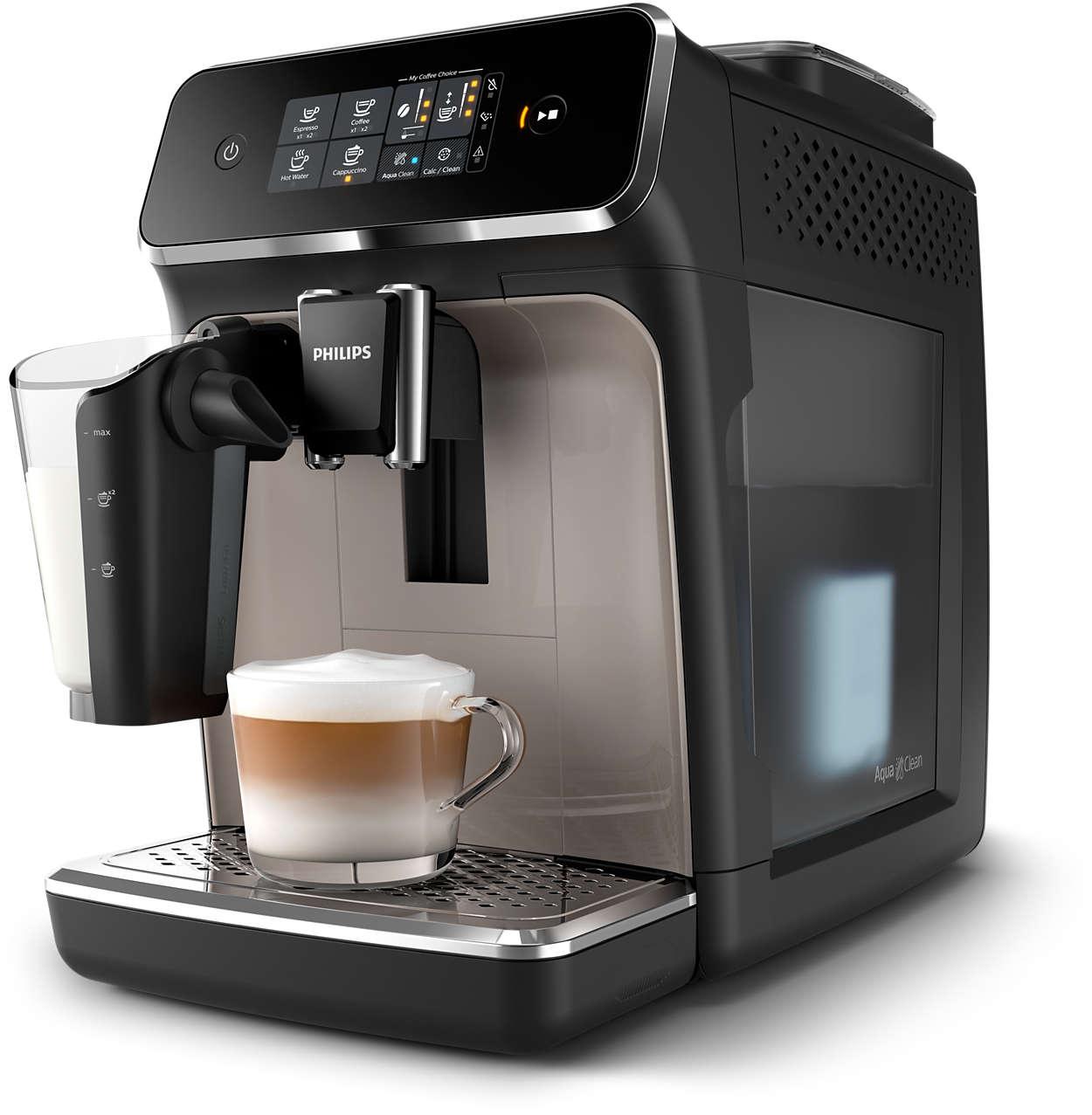 3 koppen koffie van verse bonen, nooit eerder zo eenvoudig