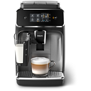 Philips Series 2200 Fully automatic espresso machines EP2236/40 3 Beverages LatteGo Silver and black Touch display