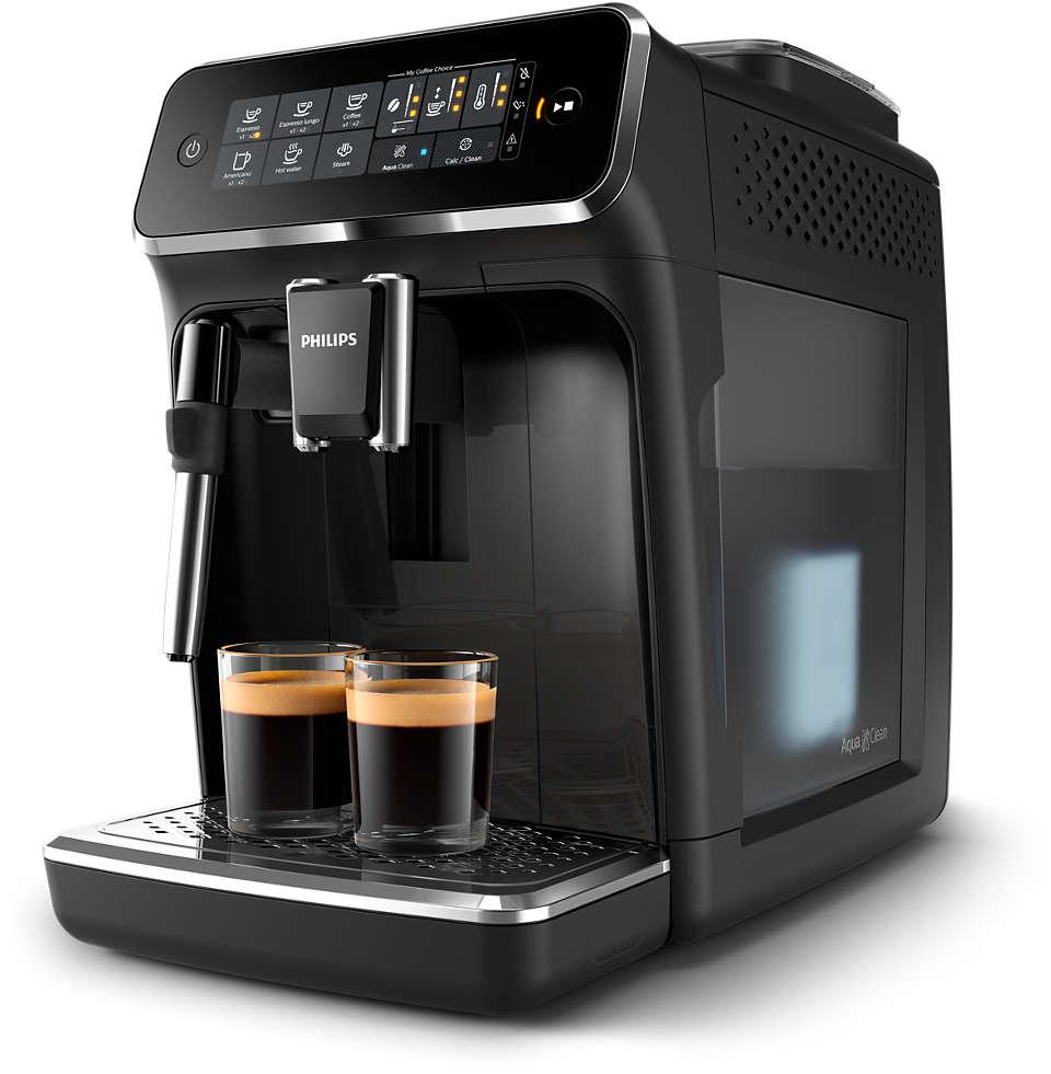 4délicieux cafés provenant de grains frais, en toute simplicité.
