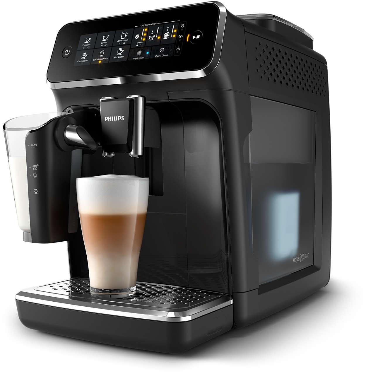 5délicieux cafés provenant de grains frais, en toute simplicité.