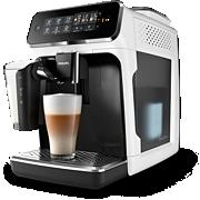 Philips Series 3200 Kaffeevollautomat EP3243 5Kaffeespezialitäten, LatteGo, Matt-Weiß/Klavierlack-Schwarz, Intuitive SensorTouch Oberfläche