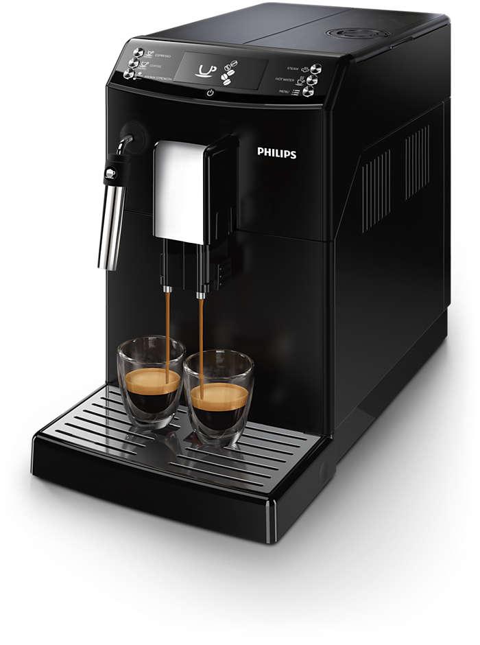 Kaffe med ett trykk, akkurat slik du vil ha den
