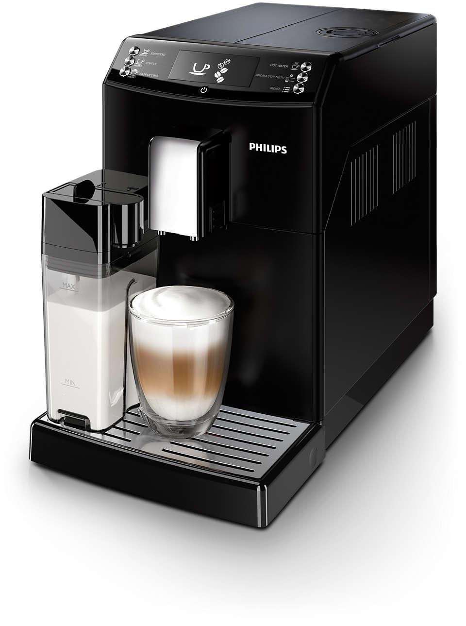 Espresso et cappuccino à la simple pression d'un bouton