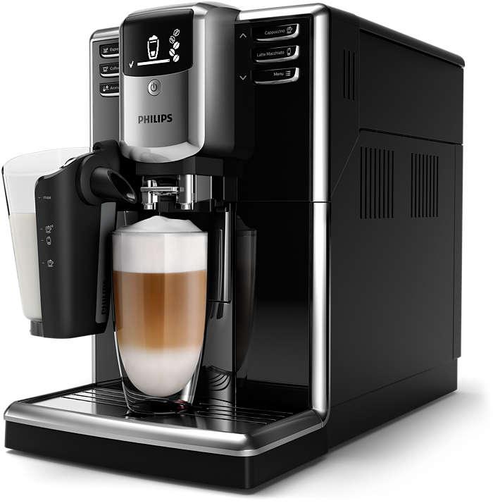 Njut av sex olika kaffevarianter med färska bönor