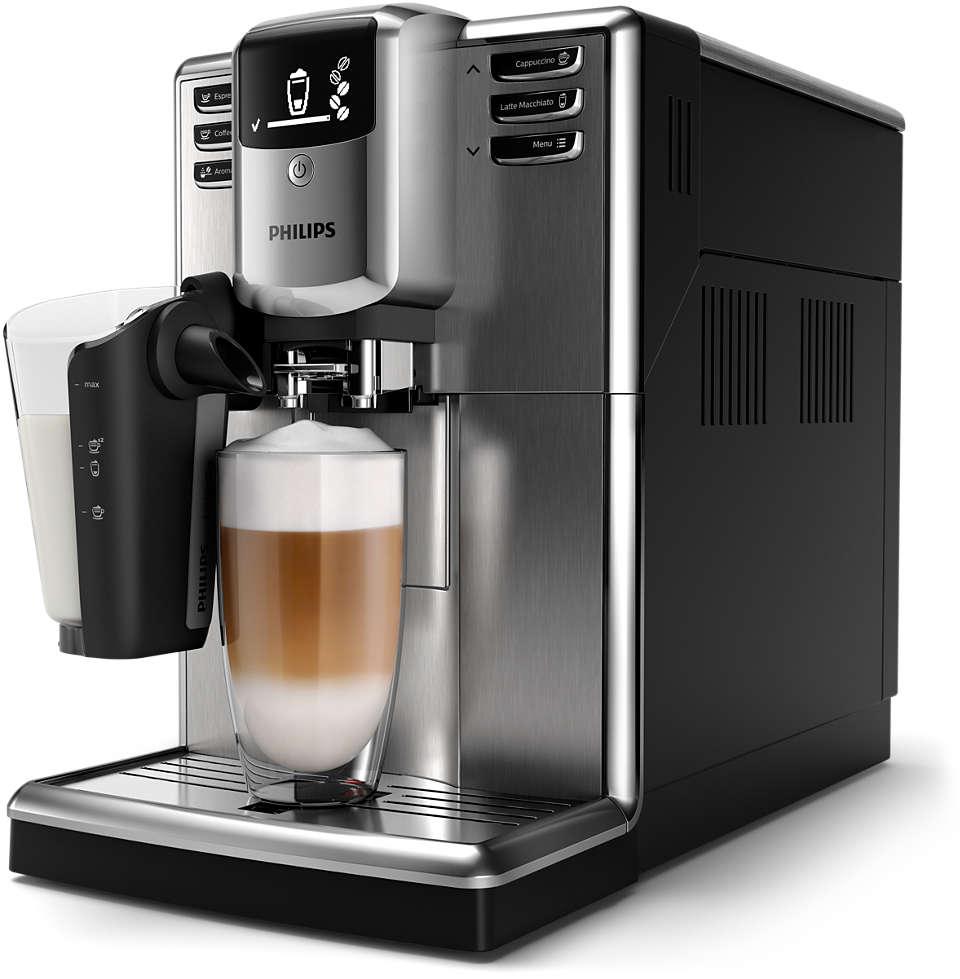 Snadná příprava 6druhů kávových nápojů zčerstvých kávových zrn