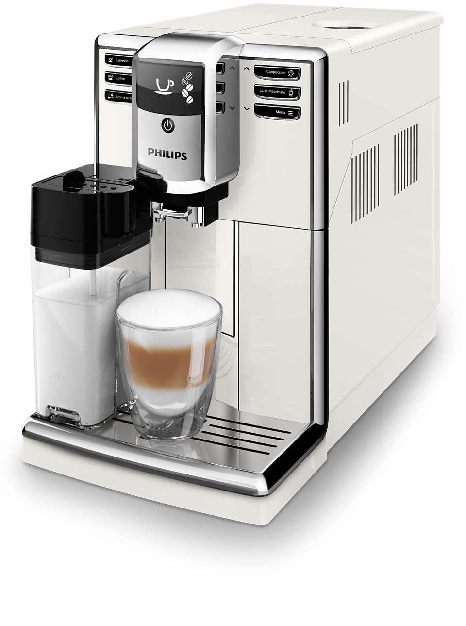 Snadná příprava 5druhů kávy zčerstvých kávových zrn