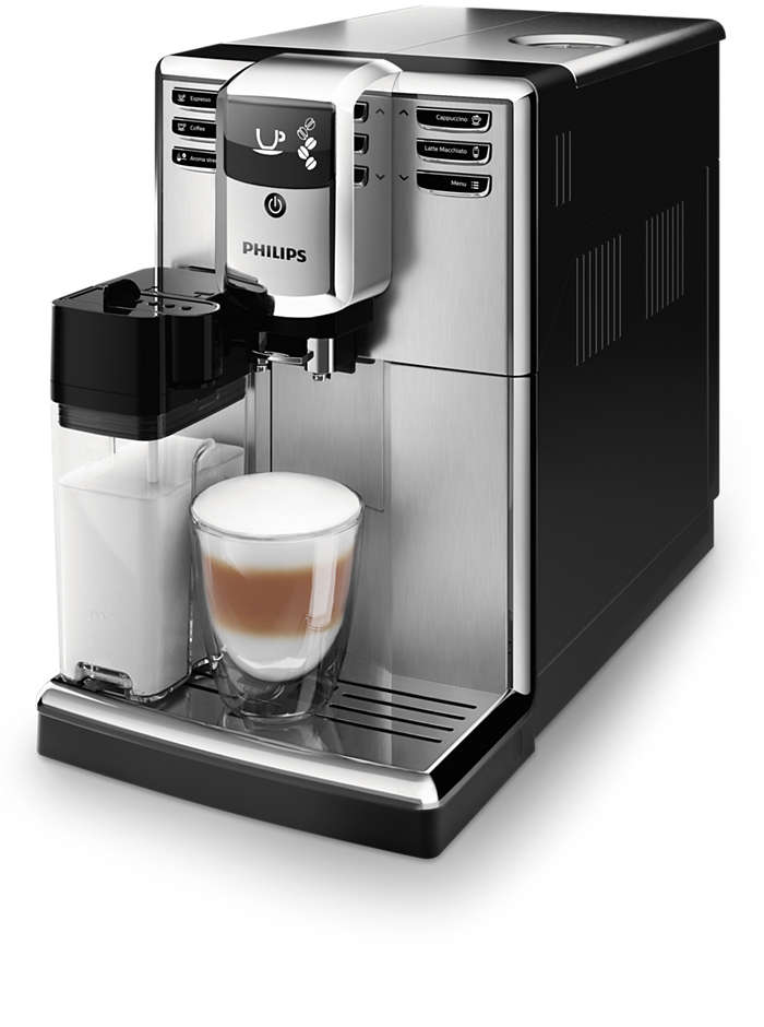 신선한 원두로 5가지 종류의 커피를 손쉽게