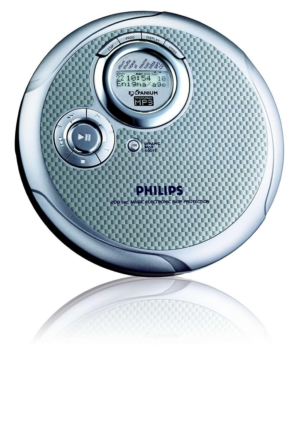 Płaski odtwarzacz płyt MP3-CD.