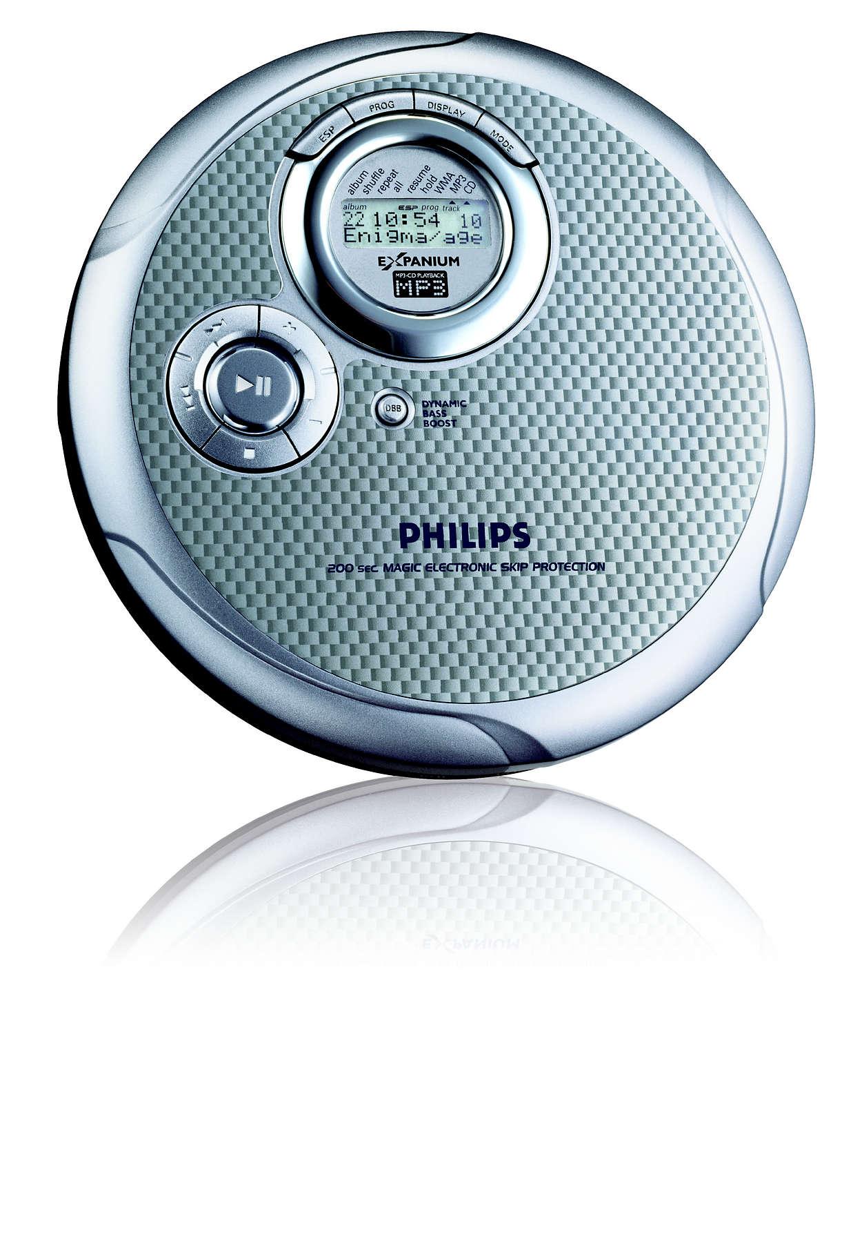 Tenký MP3-CD prehrávač